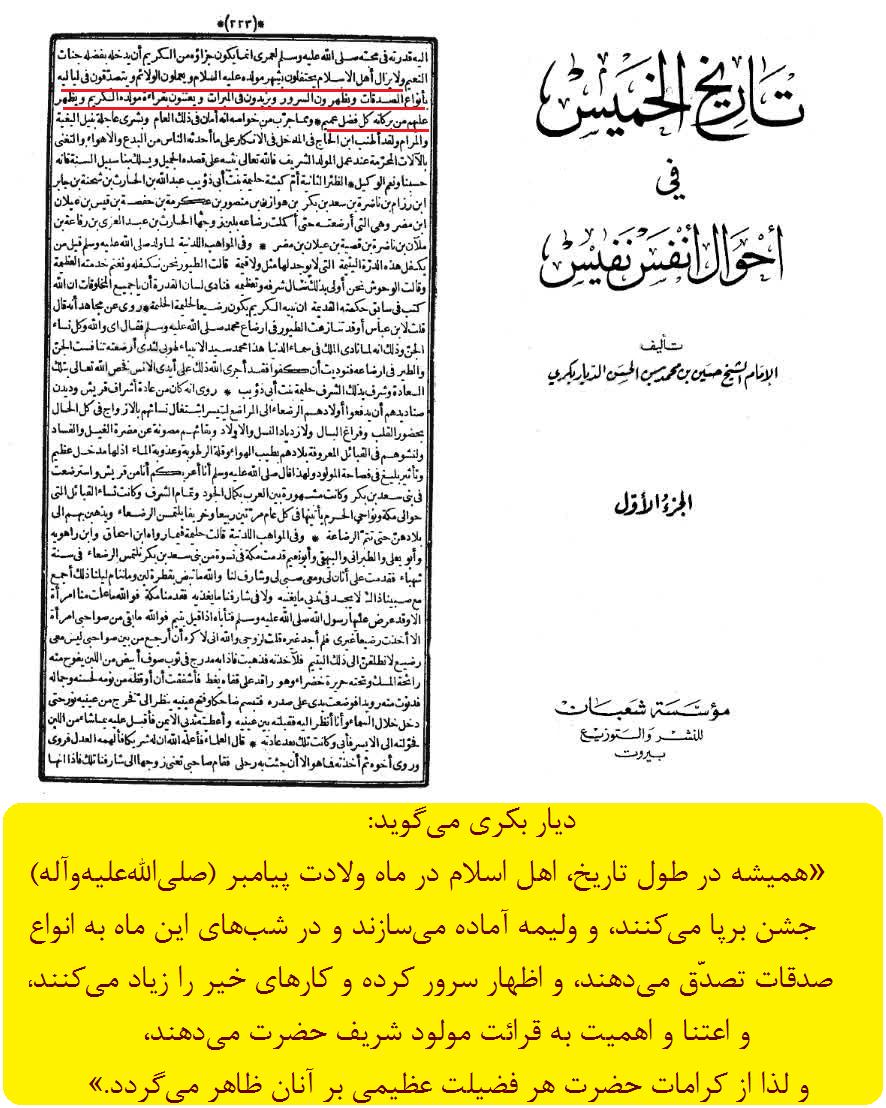 جشن میلاد پیامبر، سیره مسلمین