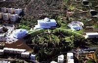 مرکز بهائيان (بيت العدل اعظم الهي) در حيفا (اسرائيل)