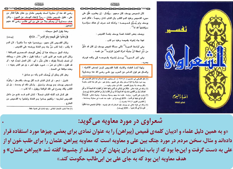 شعراوی: قصد معاویه حکومت بود نه خونخواهی عثمان