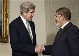مرسی و وزیرخارجه آمریکا