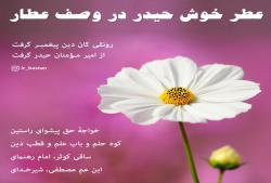 عطر خوش حیدر در وصف عطار - شعر عطار درباره حضرت علی - شاعران ایرانی درباره حضرت علی - اهل بیت