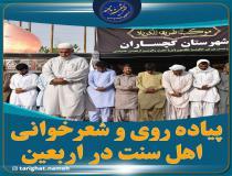 حضور اهل سنت در پیاده روی اربعین و شعر خوانی در وصف حضرت علی